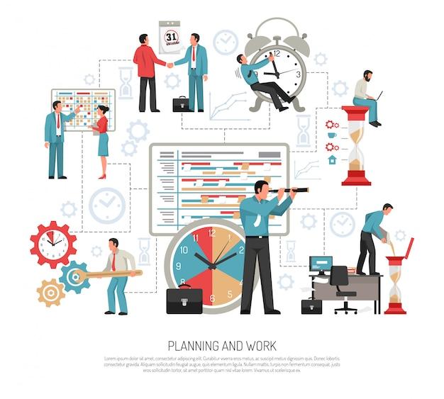 Flaches planungskonzept Kostenlosen Vektoren