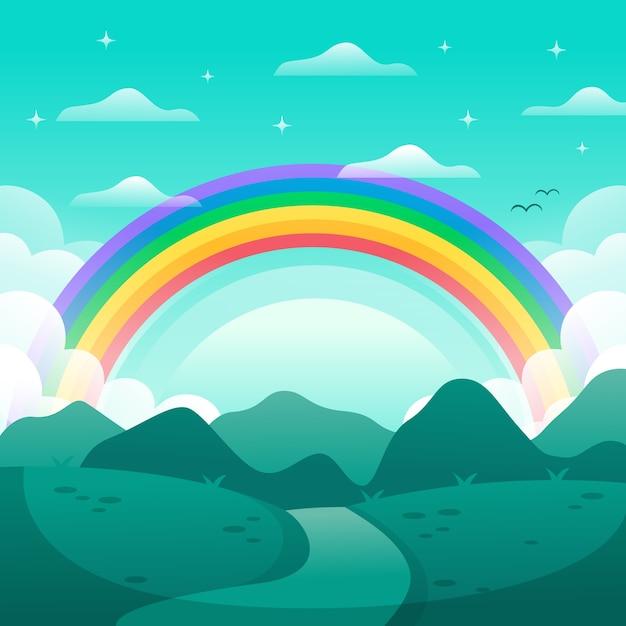 Flaches regenbogenkonzept Kostenlosen Vektoren
