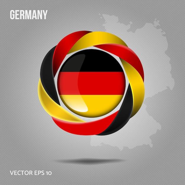 Flagge deutschland pin Premium Vektoren