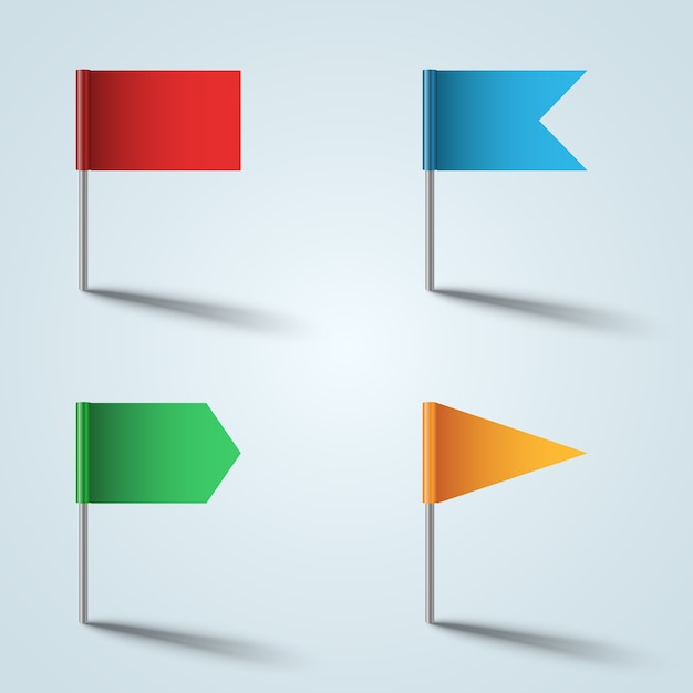 Flagge farbsymbol auf dem grauen hintergrund Premium Vektoren