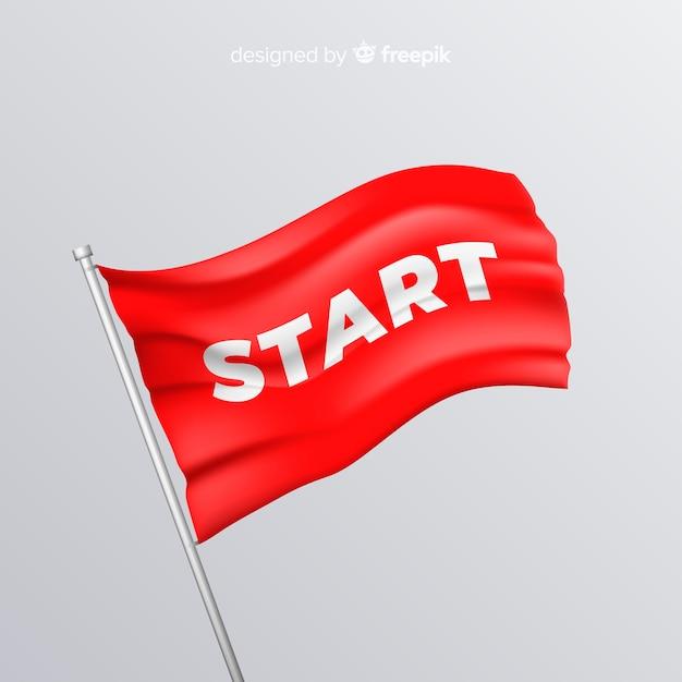 Flagge starten Kostenlosen Vektoren