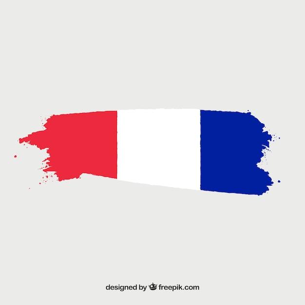 Flagge von frankreich hintergrund Kostenlosen Vektoren