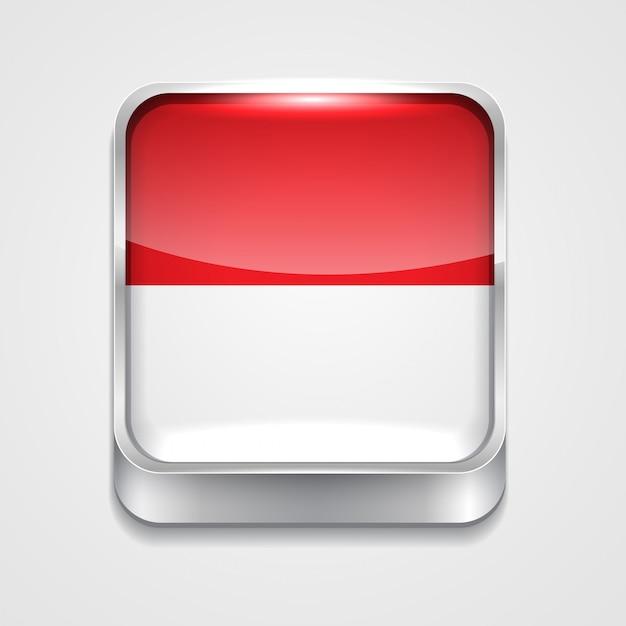 Flagge von indonesien Premium Vektoren