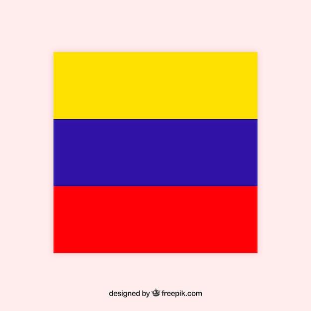 Flagge von kolumbien Kostenlosen Vektoren
