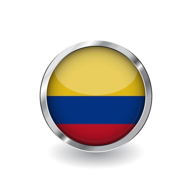 Flagge von kolumbien Premium Vektoren