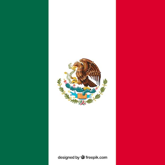 Flagge von mexiko Kostenlosen Vektoren