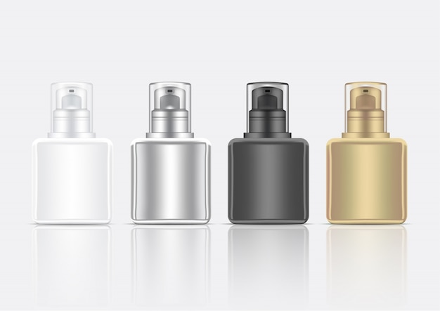 Flakon 3d realistic foam cosmetic skincare product Premium Vektoren