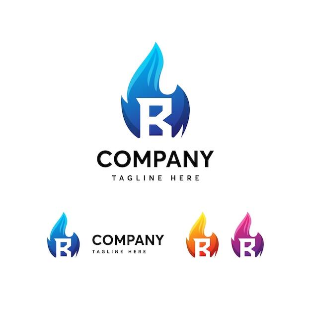 Flames fire letter b logo-vorlage Premium Vektoren