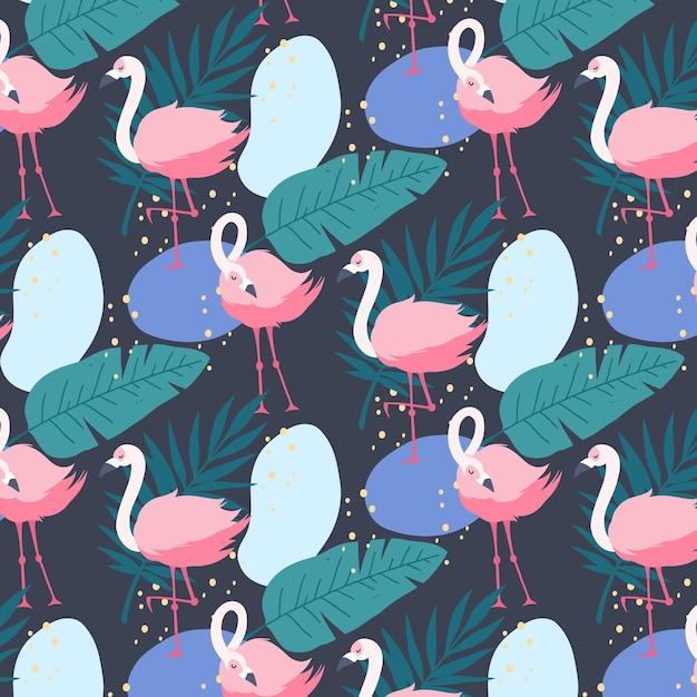 Flamingo-musterkonzept Kostenlosen Vektoren