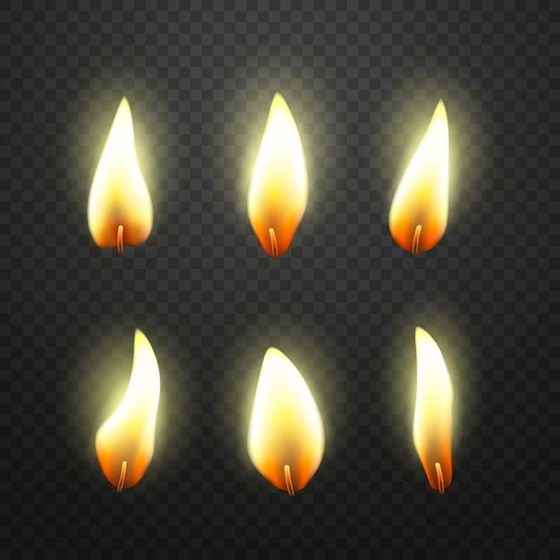 Flamme der kerzen packen Kostenlosen Vektoren