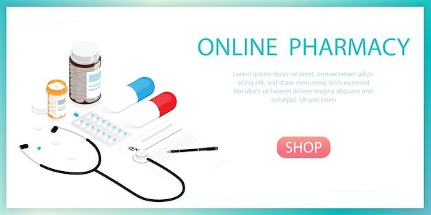 Flasche für medizinpillen, online-apotheke Premium Vektoren
