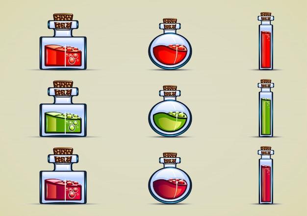 Flaschen trank Premium Vektoren