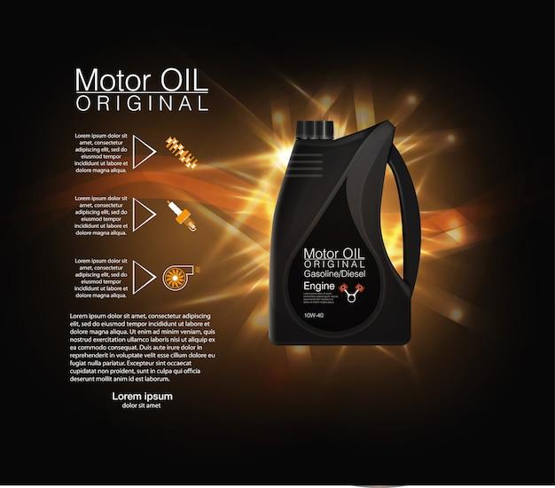 Flaschenmotorölhintergrund, illustration Premium Vektoren