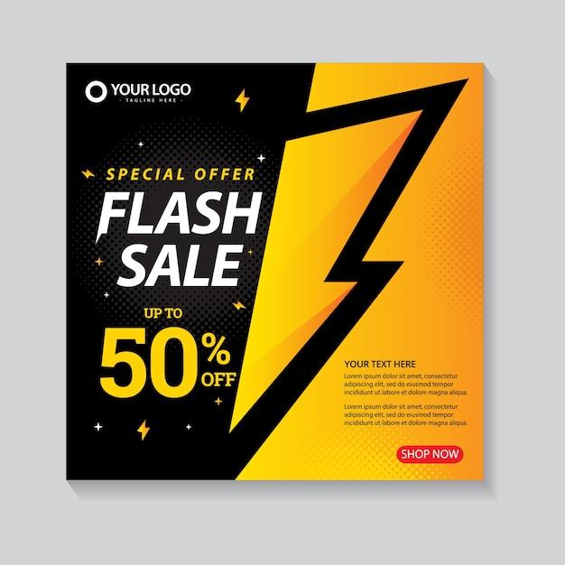 Flash sale banner vorlage Premium Vektoren