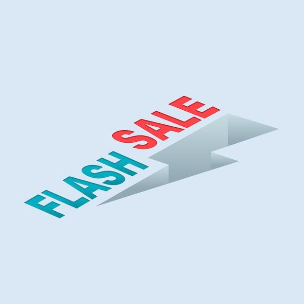 Flash sale donner Premium Vektoren