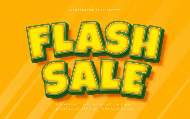 Flash sale lebendiger textstil-schrifteffekt Premium Vektoren