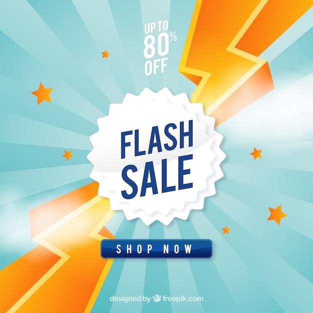 Flash-verkauf hintergrund in flachen stil Kostenlosen Vektoren