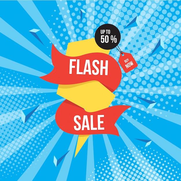 Flash-verkauf hintergrund Premium Vektoren
