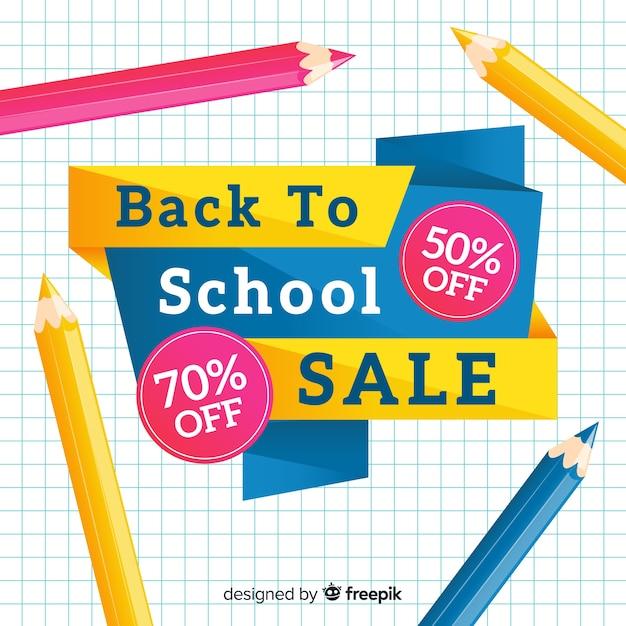 Flat back to school sales Kostenlosen Vektoren