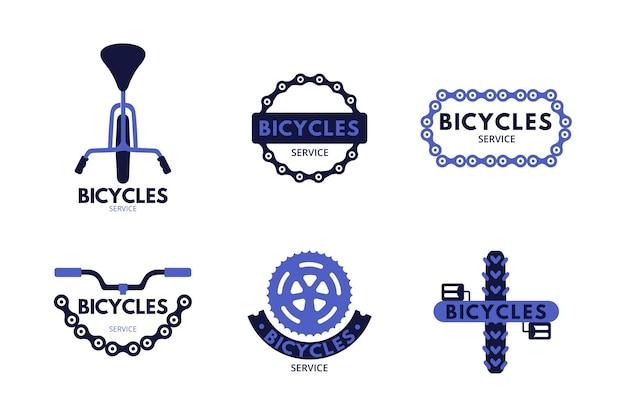 Flat bike logo sammlung vorlage Kostenlosen Vektoren