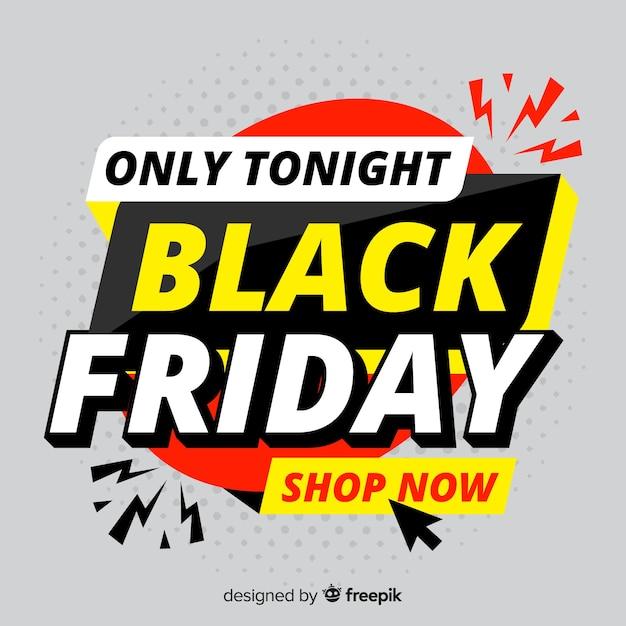 Flat black freitag online-shopping Kostenlosen Vektoren