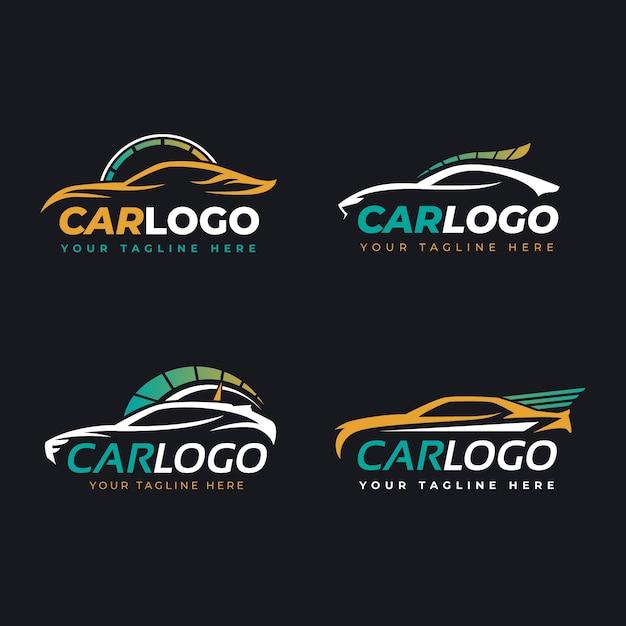 Flat car logo sammlung Premium Vektoren
