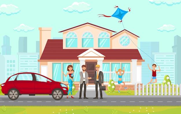 Flat consulting anwaltskanzlei in immobilienangelegenheiten. Premium Vektoren