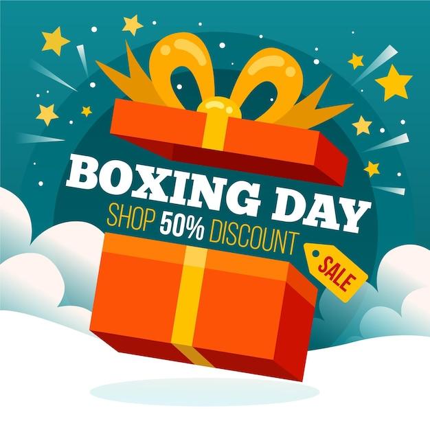 Flat design boxing day sale Kostenlosen Vektoren
