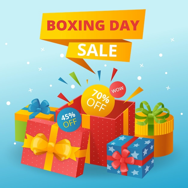 Flat design boxing day sale Kostenlosen Vektoren