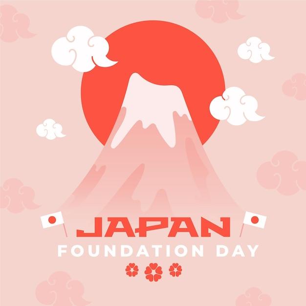Flat design foundation day japan Kostenlosen Vektoren