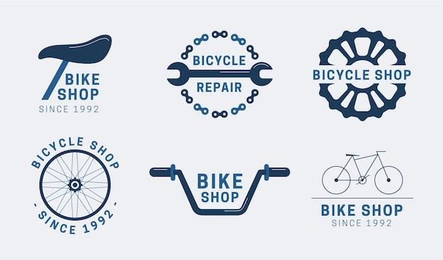 Flat design logo template set Kostenlosen Vektoren