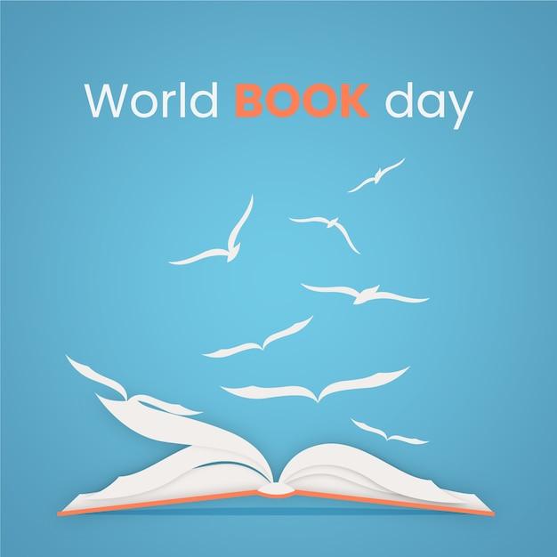 Flat design world book day event Kostenlosen Vektoren