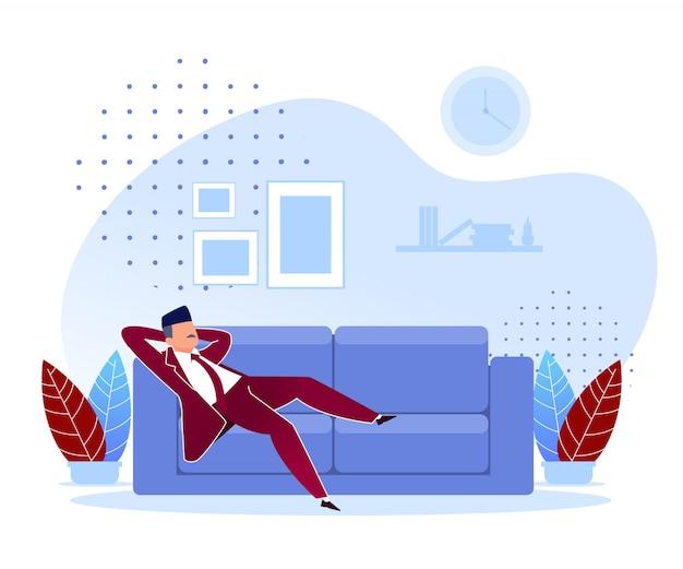 Flat procrastination falsche prioritäten cartoon. Premium Vektoren
