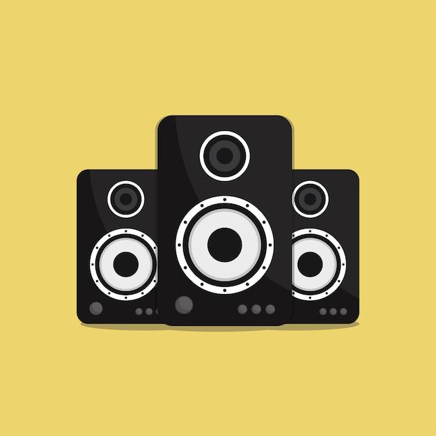Flat sound lautsprecher Premium Vektoren