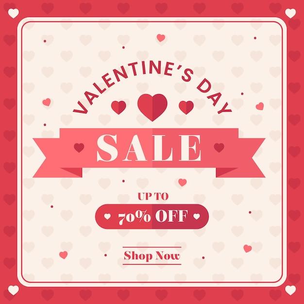 Flat valentine's day sale shop jetzt Kostenlosen Vektoren