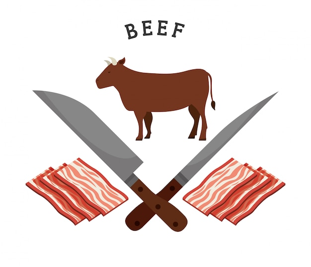 Fleischerzeugnisse Premium Vektoren