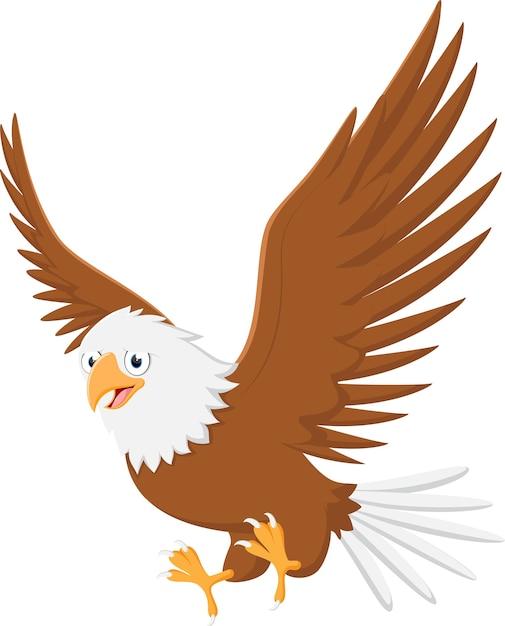Fliegender Adler Cartoon Premium Vektor