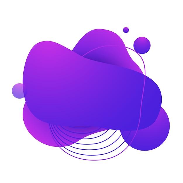 Fließendes abzeichen für app Kostenlosen Vektoren