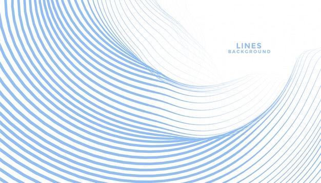 Fließendes hintergrunddesign der abstrakten blauen wellenlinien Kostenlosen Vektoren