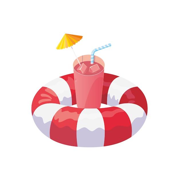 Float life guard und sommercocktail Premium Vektoren