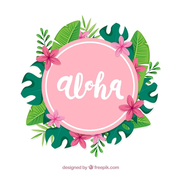Floral aloha hintergrund Kostenlosen Vektoren