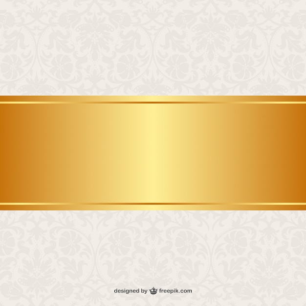 Floral background golden banner-design Kostenlosen Vektoren