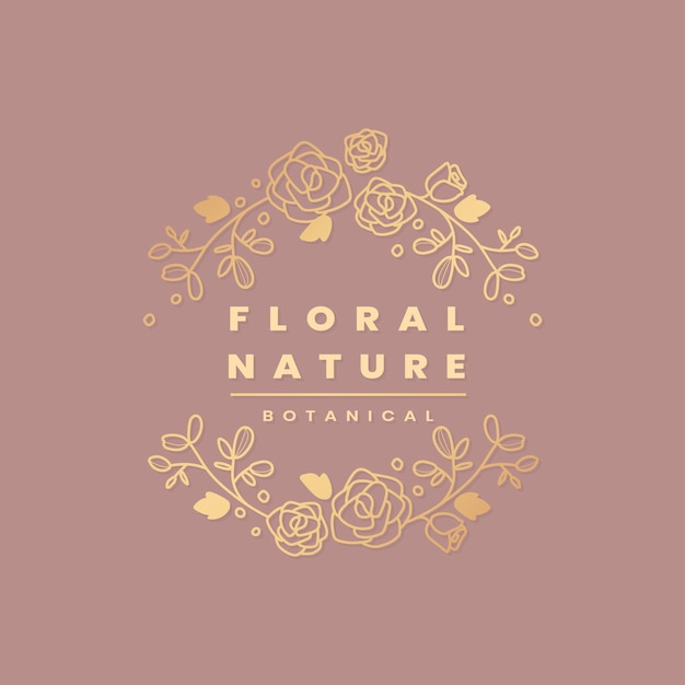 Floral botanischen rahmen Kostenlosen Vektoren