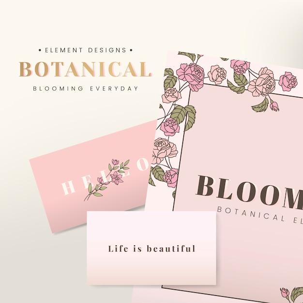 Floral briefpapier design Kostenlosen Vektoren