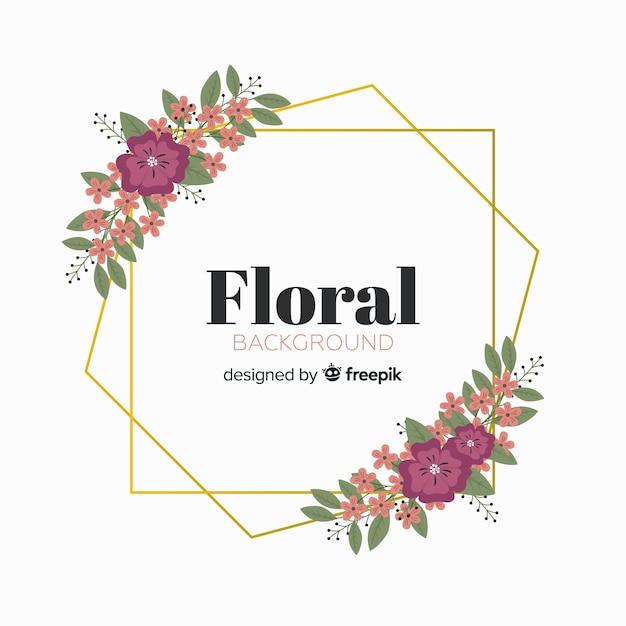 Floral geometrischen rahmen hintergrund Kostenlosen Vektoren