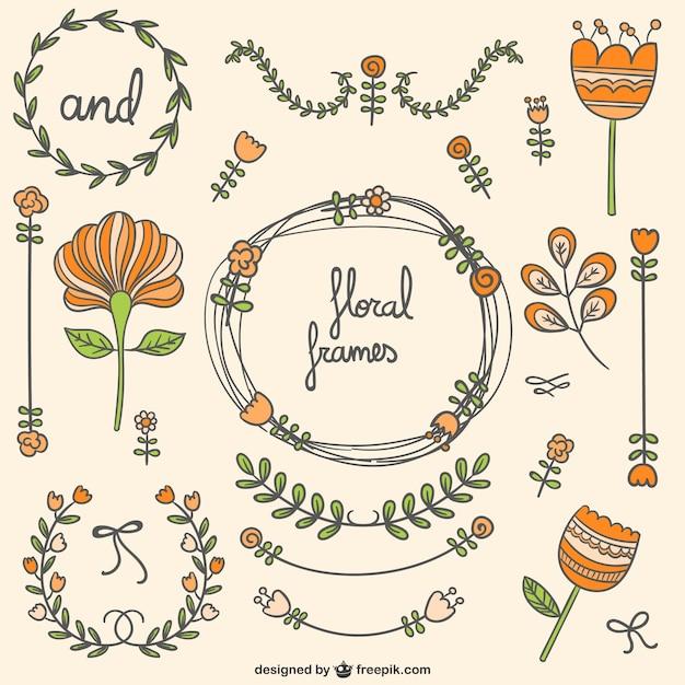 floral rahmen und ornamente download der kostenlosen vektor. Black Bedroom Furniture Sets. Home Design Ideas