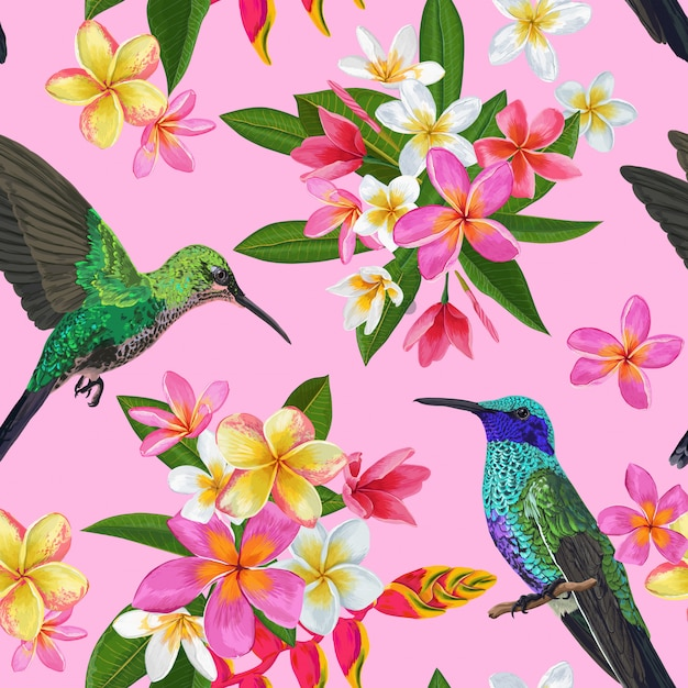 Floral seamless pattern Premium Vektoren