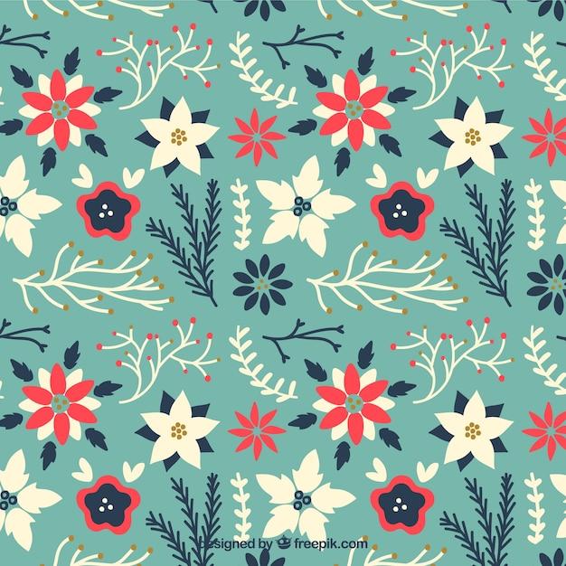 floral weihnachten muster in niedlichen stil download. Black Bedroom Furniture Sets. Home Design Ideas