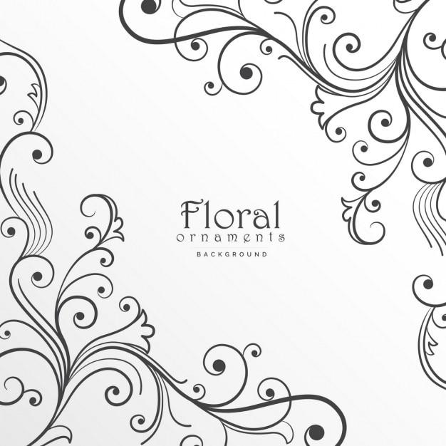 floralen hintergrund design vorlage download der kostenlosen vektor. Black Bedroom Furniture Sets. Home Design Ideas