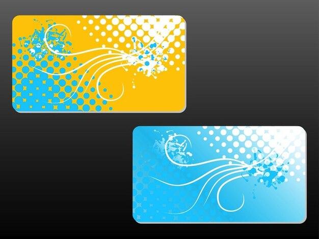 Floralen visitenkarten vorlagen download der kostenlosen vektor - Visitenkarten gratis vorlagen ...